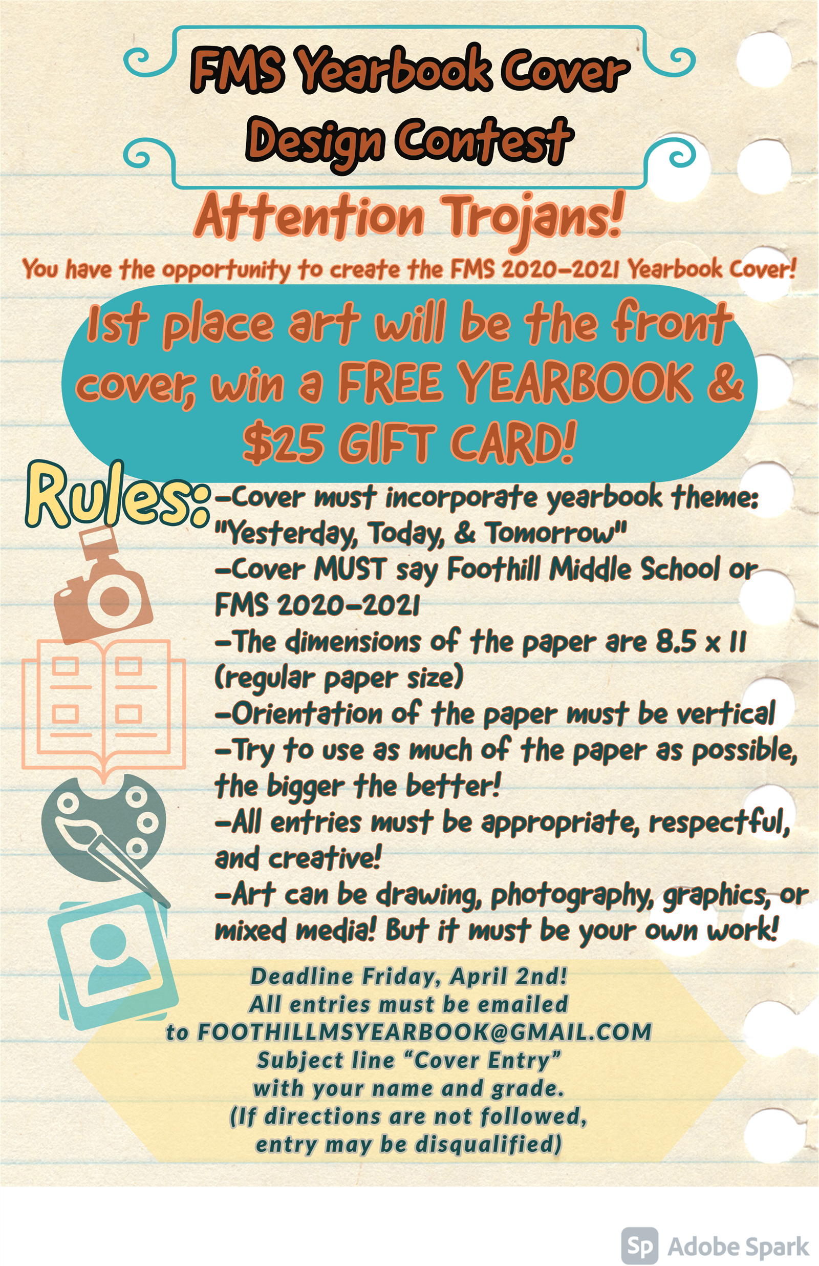 Win a FREE yearbook along with a $25 Gift Card!