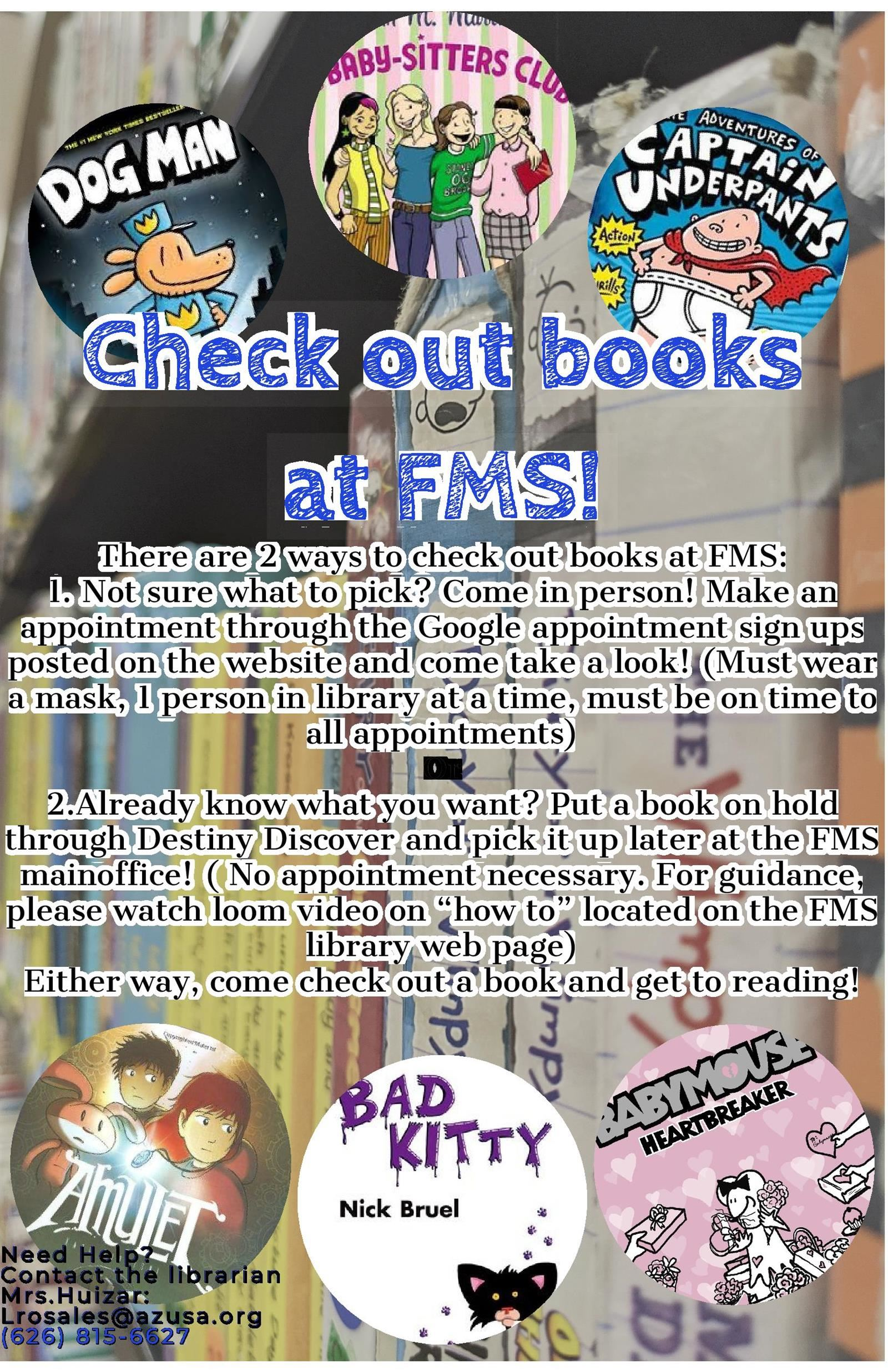 FMS Distance Learning Library Checkout Program Procedure & Free Books!