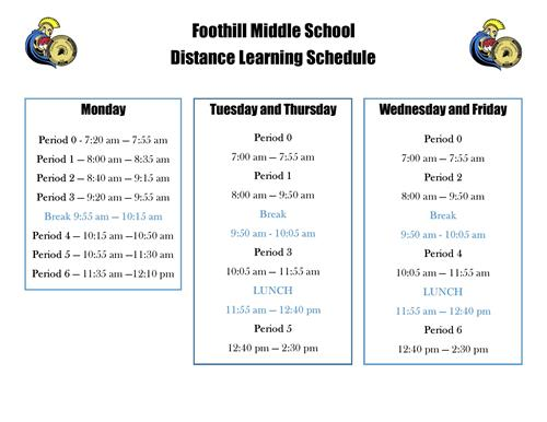 The following schedule is for both DL and VA