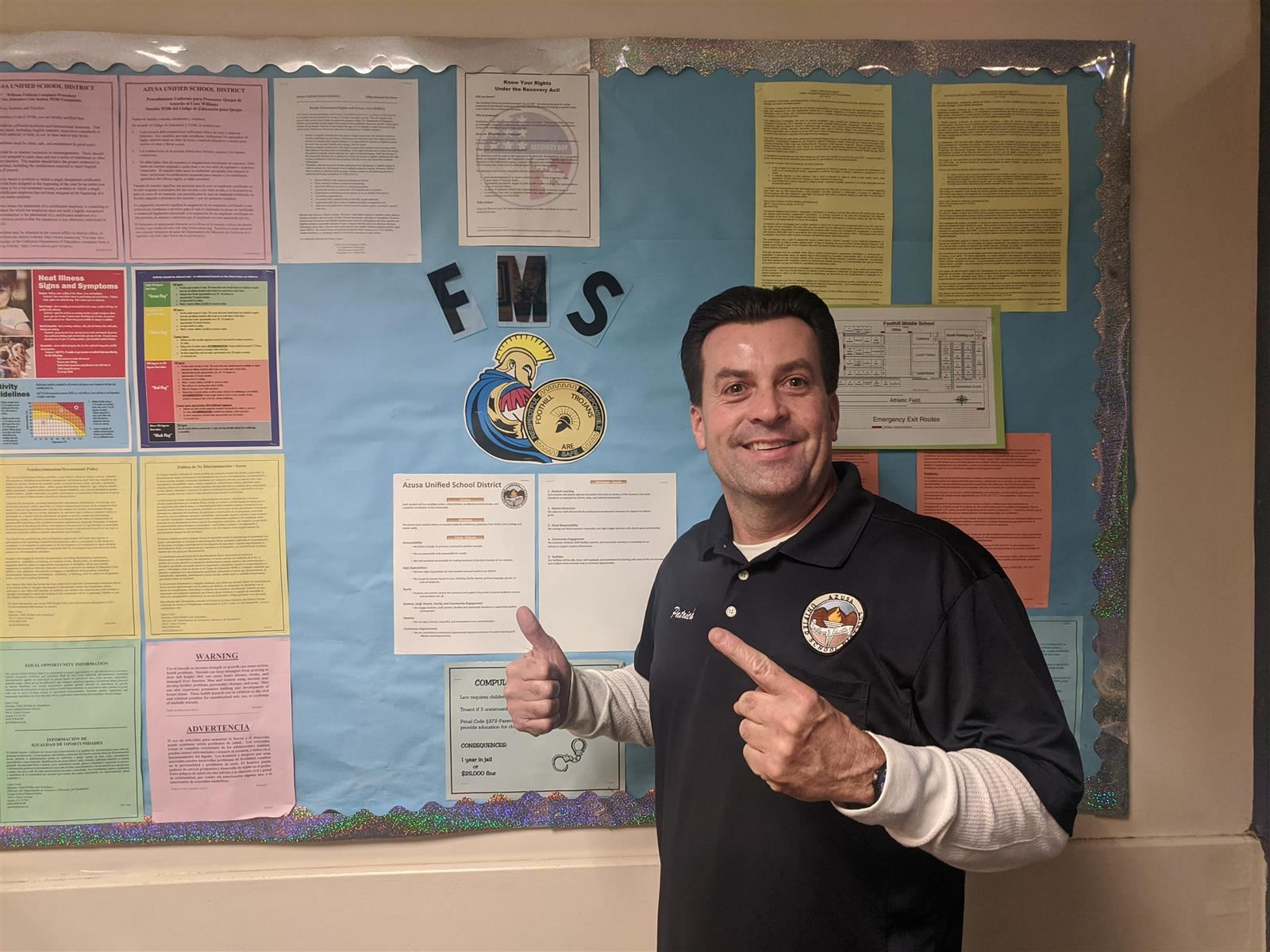 Patrick Flynn is FMS's Classified Employee of the Year